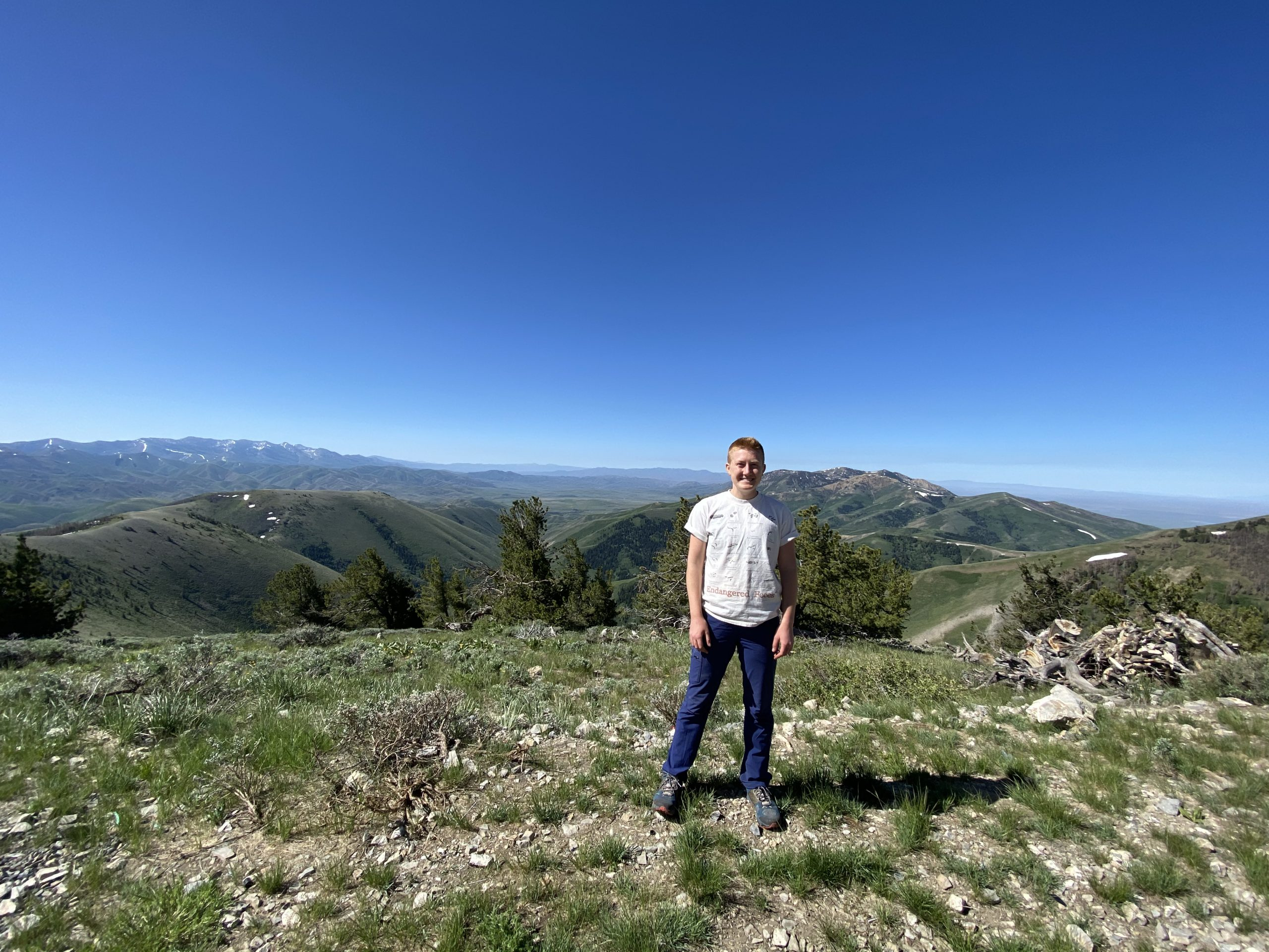 Picture of me with mountains in the background